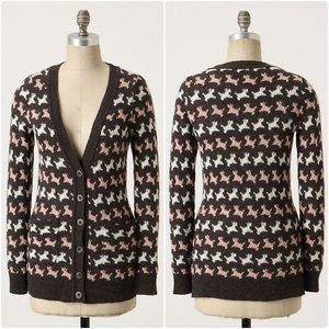 Anthropologie Dog Trot Cardigan Scottie/Scotty